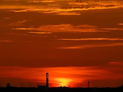 Sunset Over Jackie Robinson Ballpark #3 Art Print by Duff DeVaul