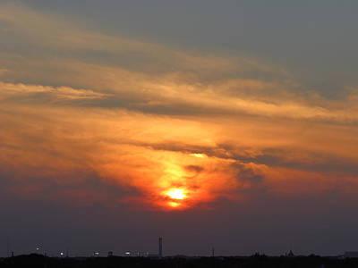 Sunset Over Jackie Robinson Ballpark Art Print by Duff DeVaul