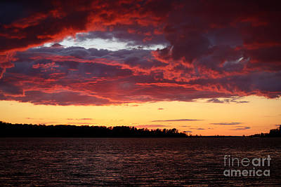 Photograph - Sunset Over Jamestown Island by Lara Morrison