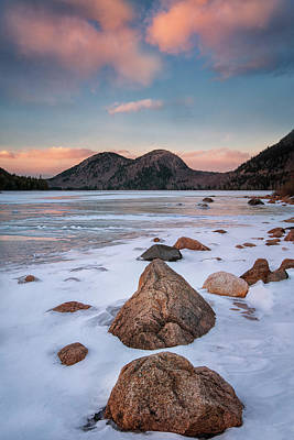 Photograph - Sunset Over Jordan Pond by Darylann Leonard Photography