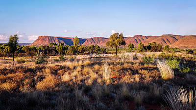 Photograph - Sun Setting Over Kings Canyon - Northern Territory, Australia by Lexa Harpell