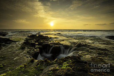 Photograph - Sunset Over Kona All Proceeds Benefit Hospice Of The Calumet Area by Joanne Markiewicz