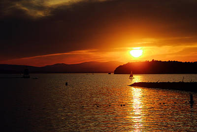Photograph - Sunset Over Lake Champlain by Chris Alberding