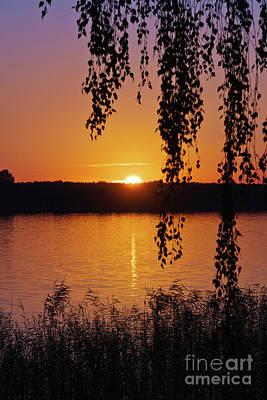 Photograph - Sunset Over Lake by Jaroslaw Suchozebrski