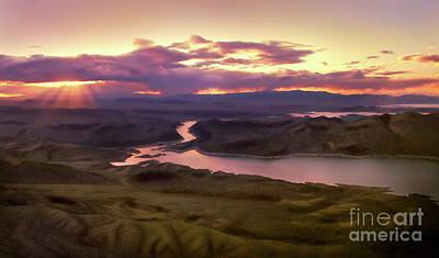 Studio Grafika Science - Sunset over Lake Mead by Stephanie Greer