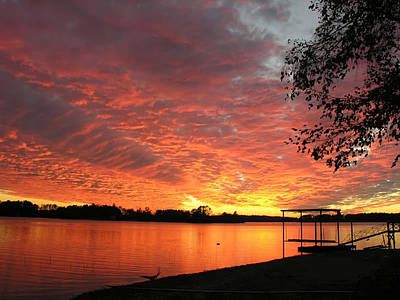 Sunset Over Lake Murray Art Print
