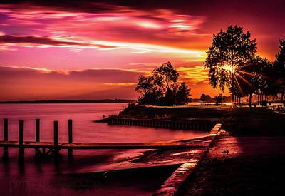 Photograph - Sunset Over Lake Saint Clair by Optical Playground By MP Ray