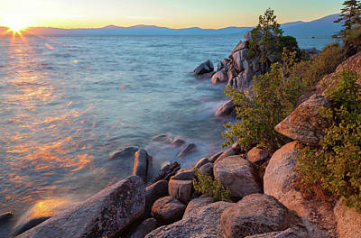 Photograph - Sunset Over Lake Tahoe by Jonathan Nguyen