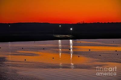 Art Print featuring the photograph Sunset Over Lake Texoma by Diana Mary Sharpton