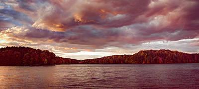 Photograph - Sunset Over Libery Reservoir by T Brian Jones
