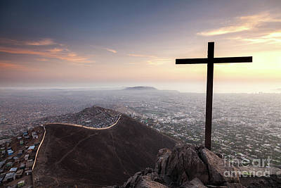 Photograph - Sunset Over Lima, Peru by Olivier Steiner