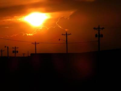 Photograph - Sunset Over Lines by Kyle West