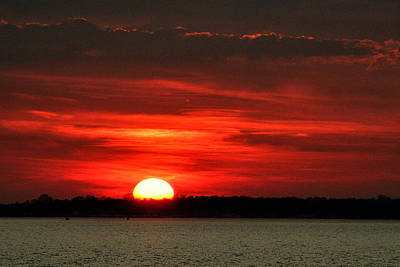 Stratford Photograph - Sunset Over Long Island by William Selander