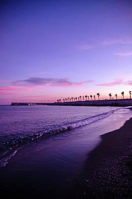 Photograph - Sunset Over Malaga, Costa Del Sol - 4 by Andrea Mazzocchetti