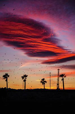 Photograph - Sunset Over Malaga, Costa Del Sol - 5 by Andrea Mazzocchetti