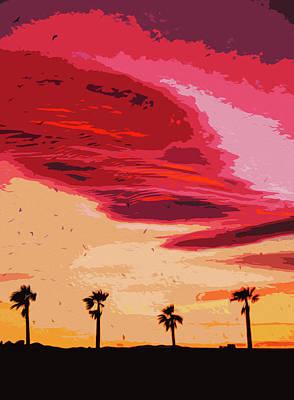 Painting - Sunset Over Malaga, Costa Del Sol - 7 by Andrea Mazzocchetti