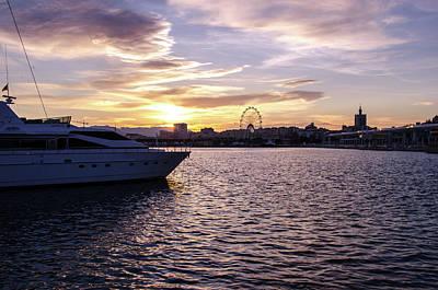 Photograph - Sunset Over Malaga, Costa Del Sol by Andrea Mazzocchetti