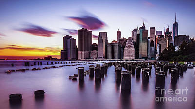Photograph - Sunset Over Manhattan by Alissa Beth Photography