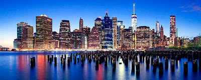 Skylines Royalty-Free and Rights-Managed Images - Magic Manhattan by Az Jackson