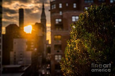 Sunset Over Manhattan New York City Art Print