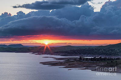Photograph - Sunset Over Millerton Lake  by Vincent Bonafede