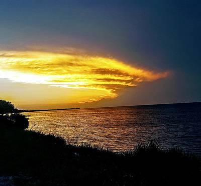 Digital Art - Sunset Over Mobile Bay by Rachel Hannah