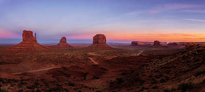 Photograph - Sunset Over Monument Valley by Andrew Soundarajan