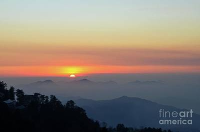 Photograph - Sunset Over Mountains And Trees Of Murree Punjab Pakistan by Imran Ahmed