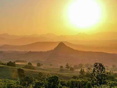 Photograph - Sunset Over Mt Sugarloaf by Keiran Lusk