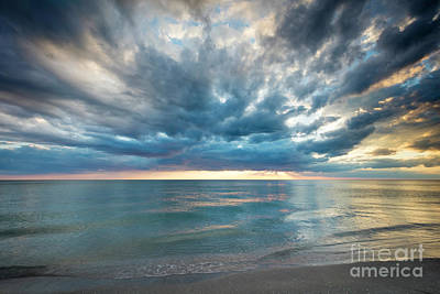 Photograph - Sunset Over Naples Beach by Brian Jannsen