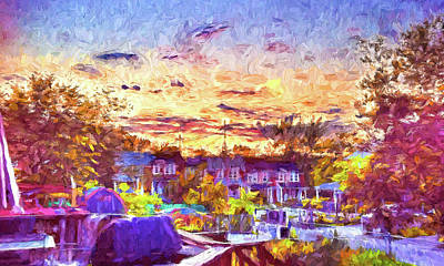Photograph -  Sunset Over Ne Baltimore, Md by Reynaldo Williams