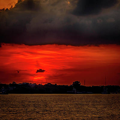 Photograph - Sunset Over New Orleans La Dsc05092 by Greg Kluempers