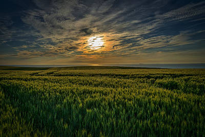 Photograph - Sunset Over North Pas De Calais In France by Jeremy Lavender Photography