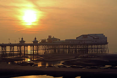 Photograph - Sunset Over North Pier by Tony Murtagh