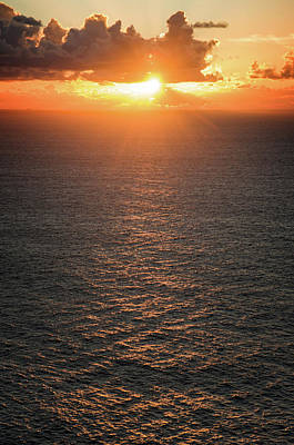 Photograph - Sunset Over Ocean by Carlos Caetano