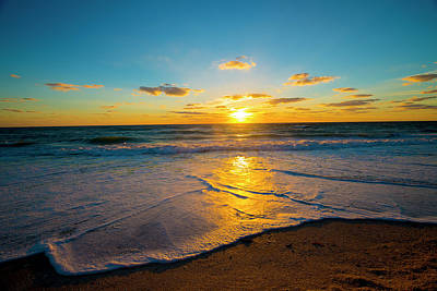 Photograph - Sunset Over Ocean  by Kevin Cable