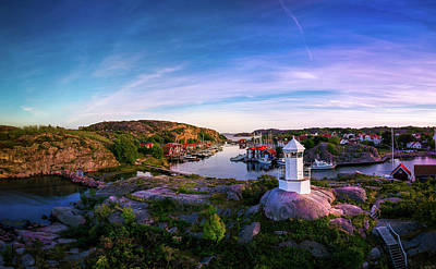 Fishing Wall Art - Photograph - Sunset Over Old Fishing Port - Aerial Photography by Nicklas Gustafsson