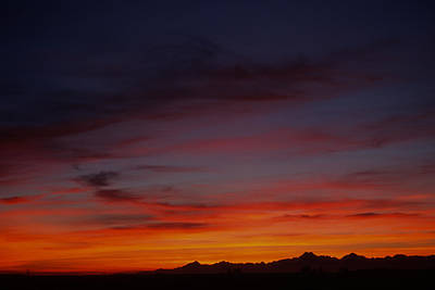 Photograph - Sunset Over Olympic Mountain Range by John Clark