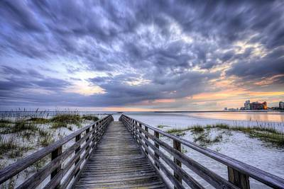 Photograph - Sunset Over Orange Beach by JC Findley