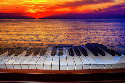 Photograph - Sunset Over Piano Keys by Garry Gay