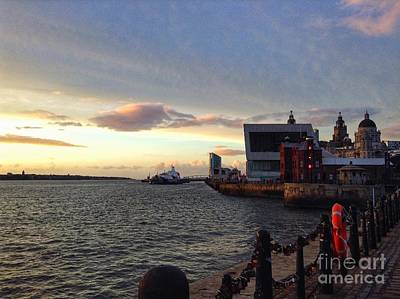 Photograph - Sunset Over Pier Head View by Joan-Violet Stretch