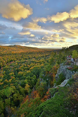 Photograph - Sunset Over Porcupine Mountains IIi by Ray Mathis