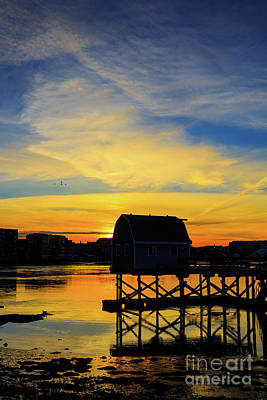 Photograph - Sunset Over Portsmouth New Hampshire by Edward Fielding