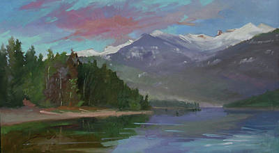 Betty Billups Painting - Sunset Over Priest Lake, Id by Betty Jean Billups