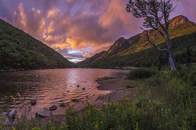 Nh Photograph - Sunset Over Profile Lake by Chris Whiton
