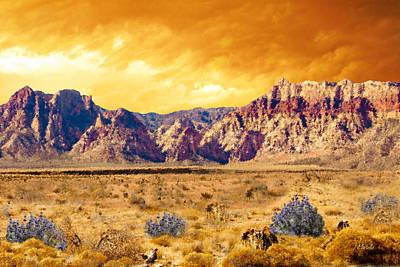 Desert Sunset Digital Art - Sunset Over Red Rock Canyon by J Marielle