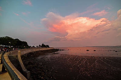 Photograph - Sunset Over Red Rock Park Lynn Ma North Shore by Toby McGuire