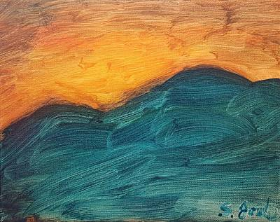 Painting - Sunset Over Rendezvous  by Steve Jorde