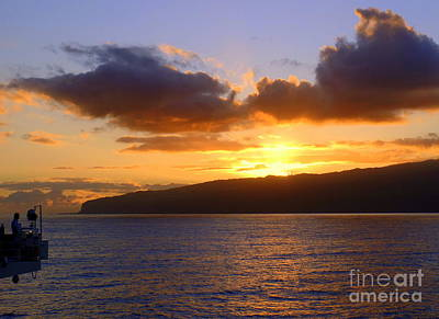 Photograph - Sunset Over Reunion Island by John Potts