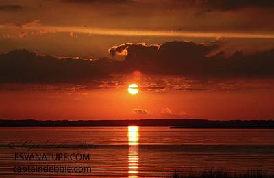 Photograph - Sunset Over Rippled Bay by Captain Debbie Ritter